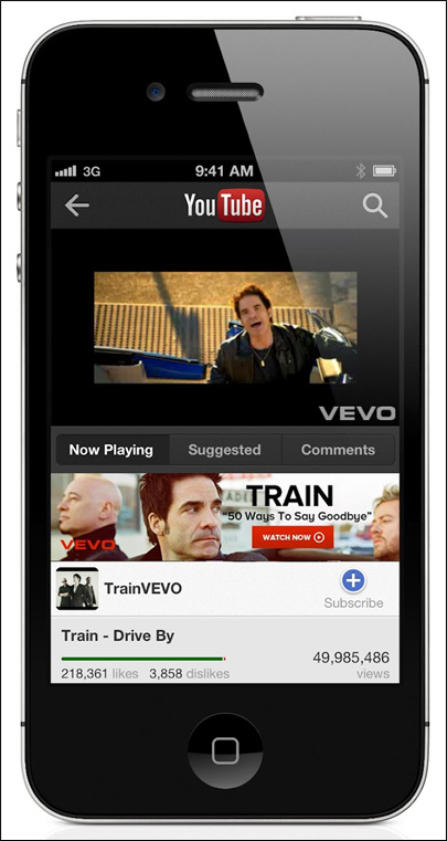 YouTube offers new iPhone app to fill looming void