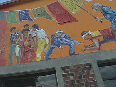 China protests Corvallis mural