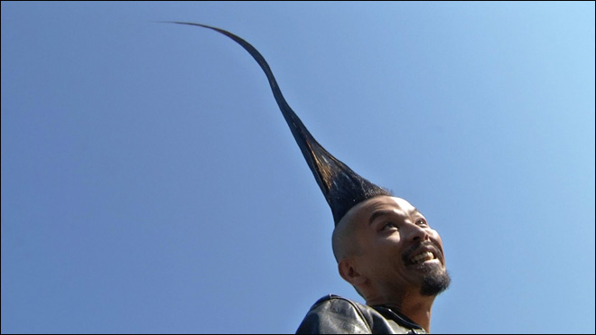 Behold, the world's tallest mohawk!