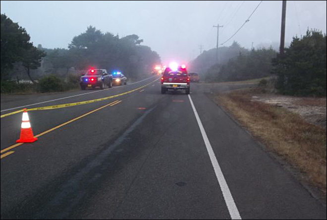 Pedestrian killed while walking along Highway 101