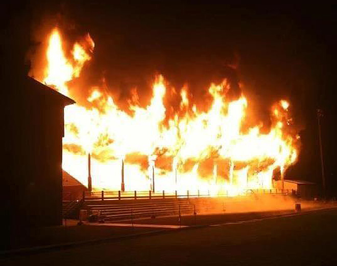 Montesano High School fire