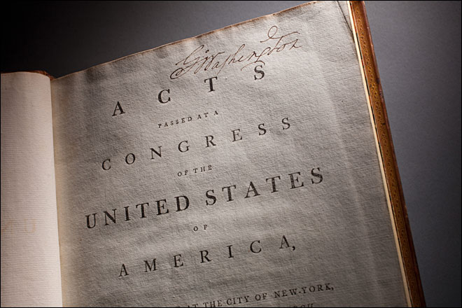 George Washington's copy of Constitution goes on display