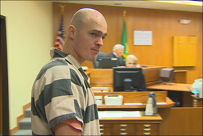 Patrick Drum appears at his sentencing in Port Angeles on Sept. 18, 2012.