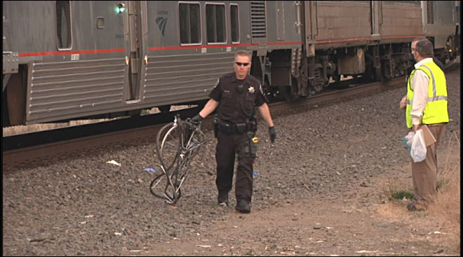 Bicyclist dead after collision with Amtrak train