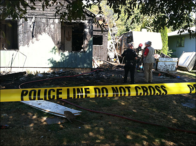 Police investigating north Eugene house fire