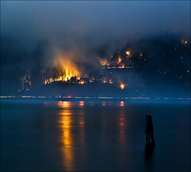Milepost 66 Fire near Hood River