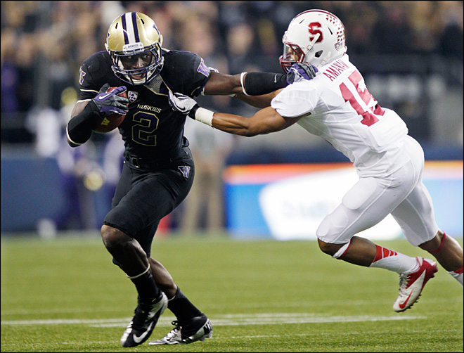 No more luck: Huskies upset No. 8 Stanford 17-13