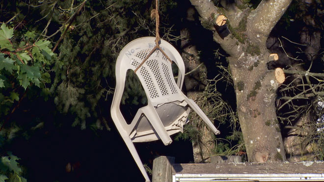 Chair in tree: 'It has nothing to do with hanging anybody'