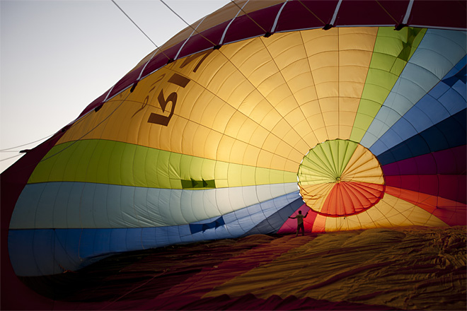 APTOPIX Mideast Israel Hot Air Balloon