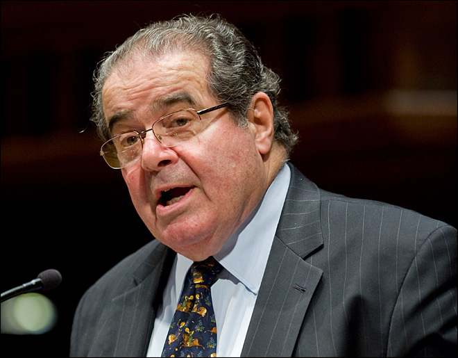 Justice Scalia says abortion, gay rights are easy cases