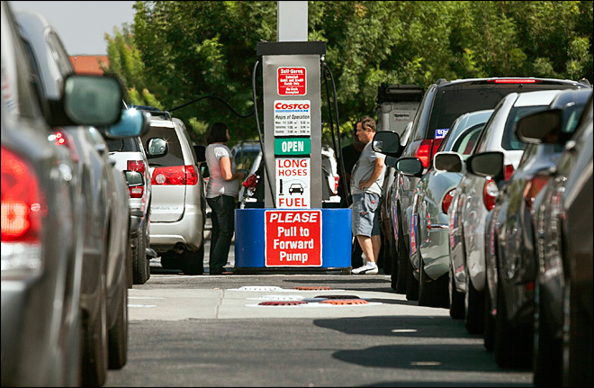 Calif. gas prices hit record high 2nd straight day