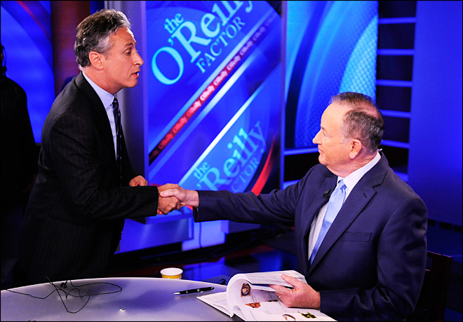 O'Reilly, Stewart tangle in mock debate