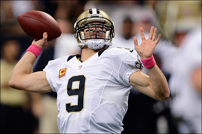 Drew Brees breaks Johnny Unitas' TD pass record