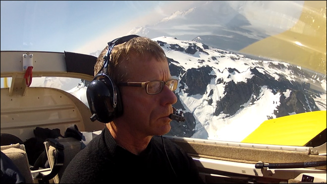 Glaciers are a passion for camera-wielding pilot