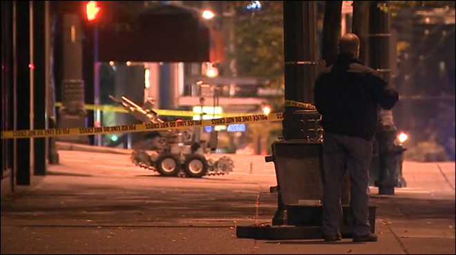 Bomb squad detonates device outside Seattle FBI office