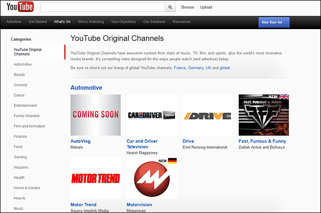 YouTube takes original programming venture abroad