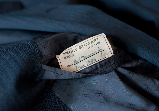 Man finds suit he believes belonged to Paul Newman
