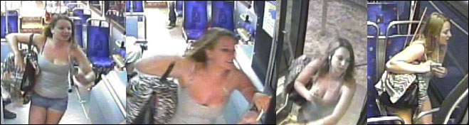 Woman hits bus driver