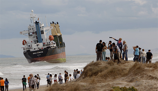 Spain Cargo Ships Aground