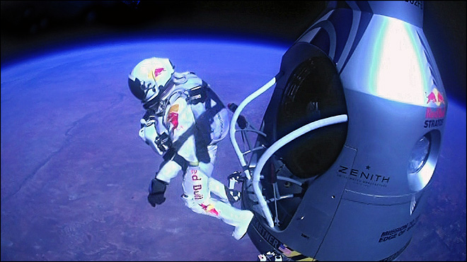 Supersonic skydiver reached 844 mph in record jump