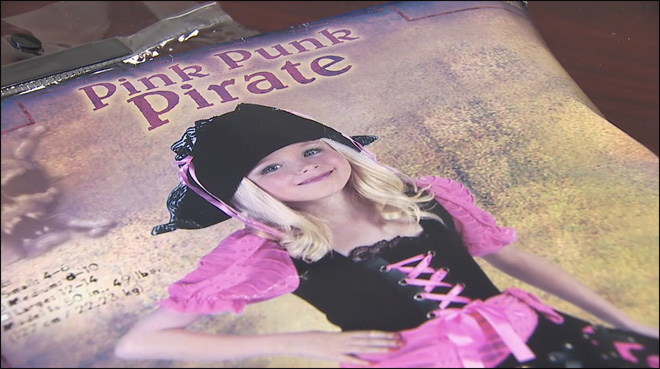 Shipment of lead-contaminated kids' Halloween costumes seized