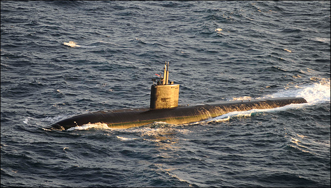 U.S. submarine, Aegis cruiser collide off East Coast