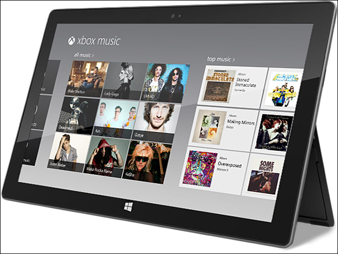 New Microsoft tablets to have free on-demand music