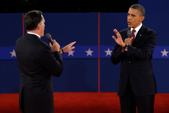 Obama takes the offense, says Romney just for rich