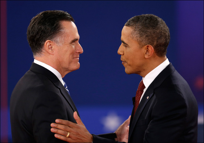 Obama, Romney clash in high tension, high stakes debate