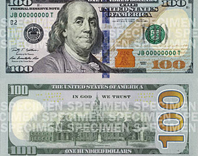 New $100 bills swiped