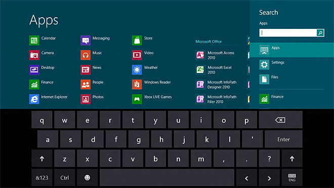 Windows 9 Touch Keyboard