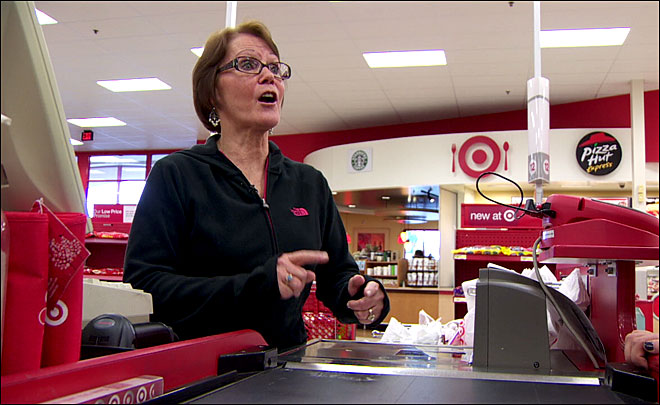 Kindness really is contagious. Customers at Target pay it forward