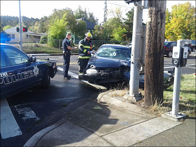 Police: Cars collide when driver runs red light