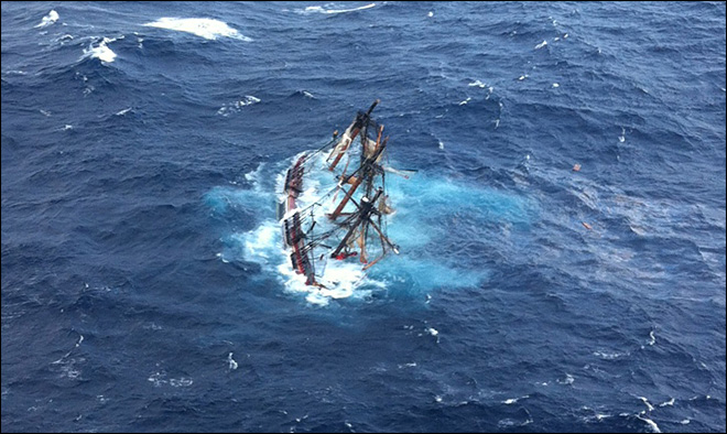 UW grad helps rescue crew of stricken HMS Bounty