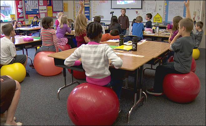 Bouncy balls for fidgety kids prove calming for classroom