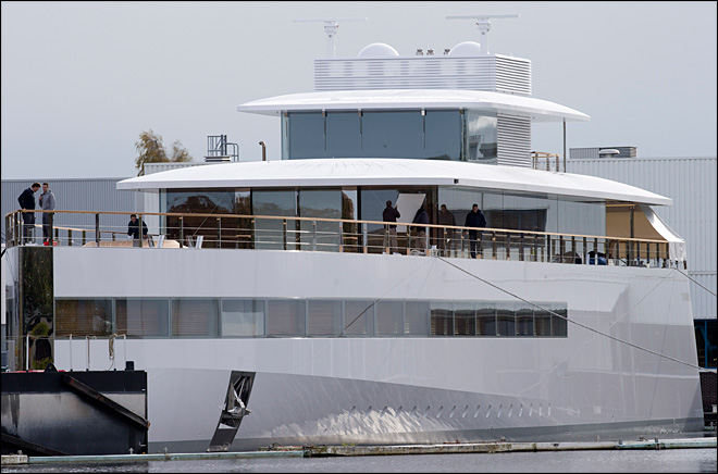 Yacht commissioned by Steve Jobs  launched