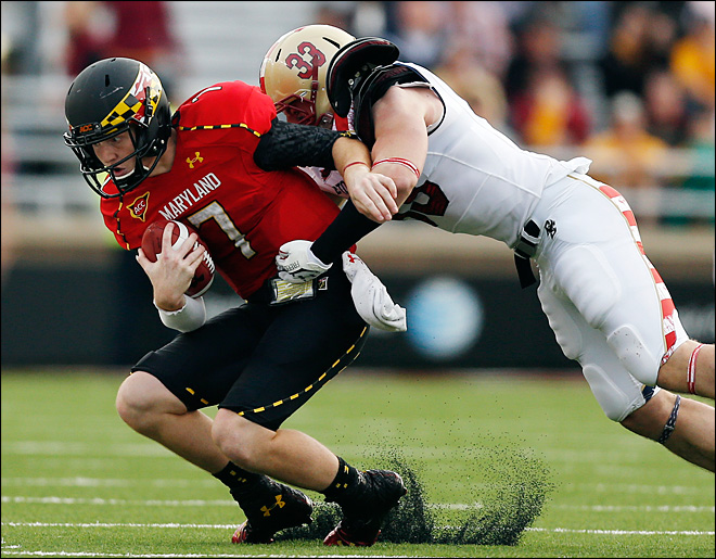 Injuries leave Maryland down to 5th-string quarterback