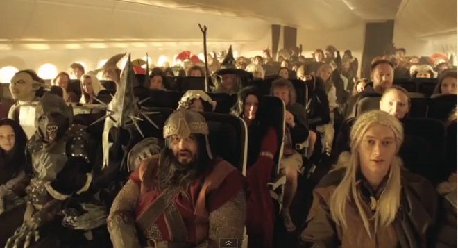 Air New Zealand finds magic in hobbit safety video