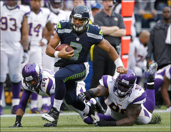 Lynch, Wilson lead Seahawks past Vikings 30-20