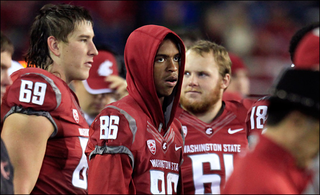 Washington State suspends star receiver Wilson