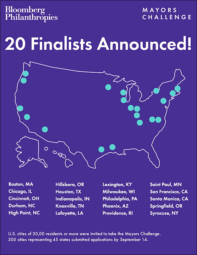 Springfield a Top 20 finalist in $9 million Bloomberg Challenge