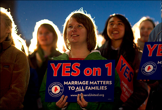 Maine, Maryland vote to legalize gay marriage
