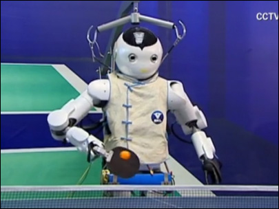 Robot tries its hand at ping pong