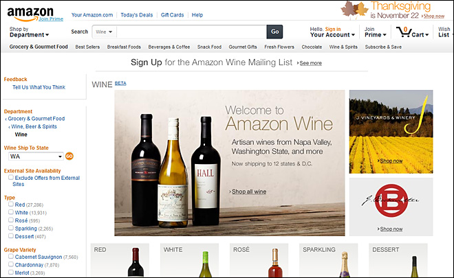 Got Sauvignon? Amazon.com starts selling wine