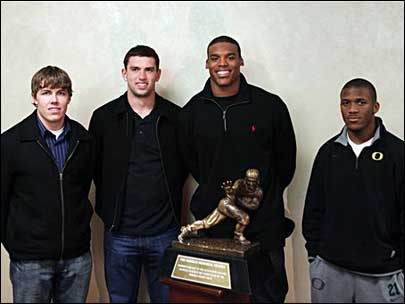 The four Heisman Trophy finalists
