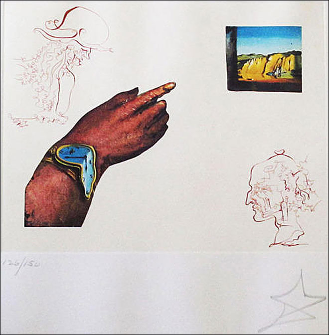 Signed Dali at Goodwill: 'It just showed up in our donation stream'