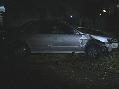 Car plows through yards: 'We heard smash, crash, boom, bang!'