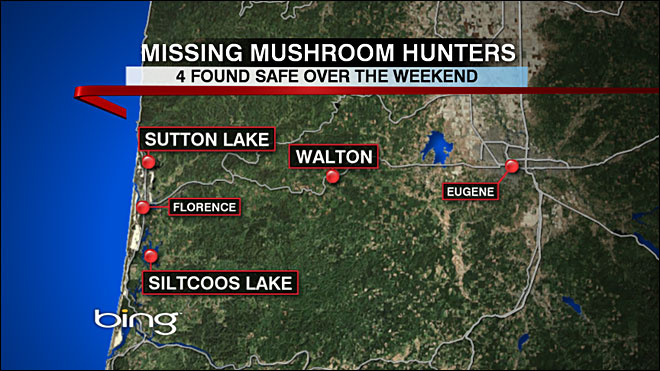 Missing mushroom hunters found OK