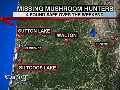 Mushroom pickers found safe: 'They're all happy to be alive'