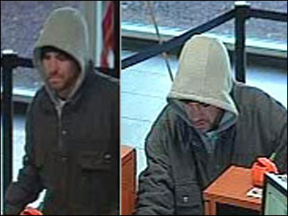 Bank robber drops jacket